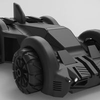 Small Batmobile 2.84 3D Printing 83090