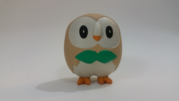 Medium Rowlet - Pokemon Sun & Moon Grass Starter 3D Printing 83220