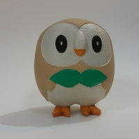 Small Rowlet - Pokemon Sun & Moon Grass Starter 3D Printing 83220