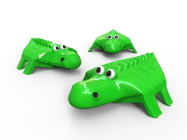 Medium Crocodile 3D Printing 83331