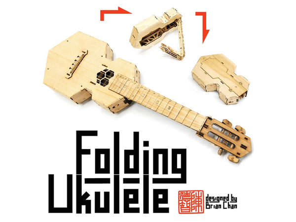 Medium Laser-cut folding Ukulele (Soprano size) 3D Printing 83497