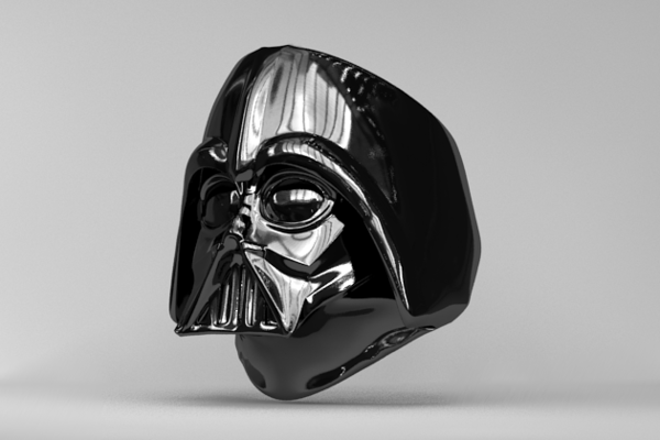 Medium Ring - Darth Vader 3D Printing 83610