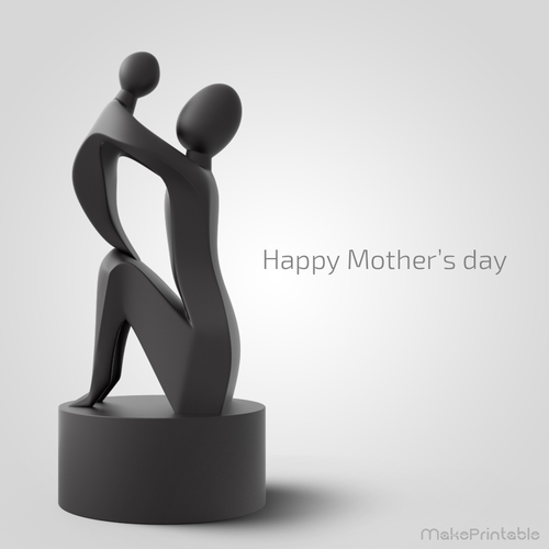 Mother's Day Sculpture  3D Print 83647