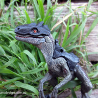 Small Papo Raptor Battle Armour 3D Printing 83767