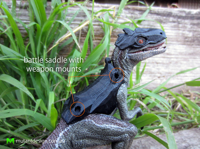 Papo Raptor Battle Armour 3D Print 83768