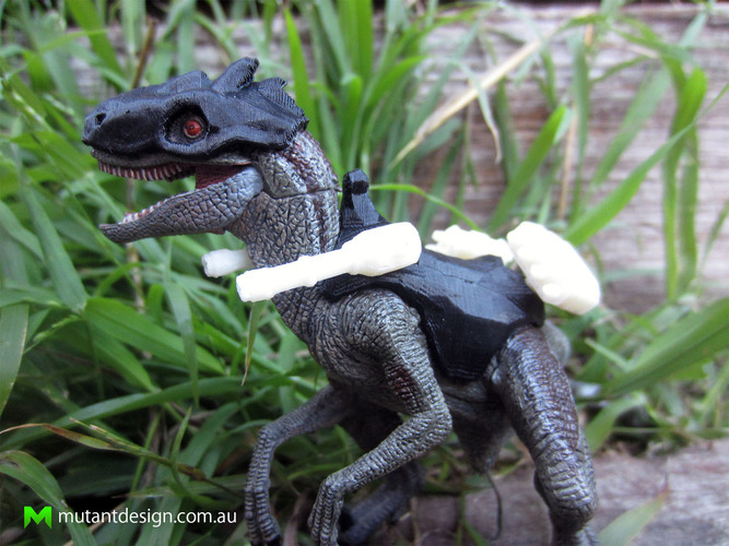 Papo Raptor Battle Armour 3D Print 83770