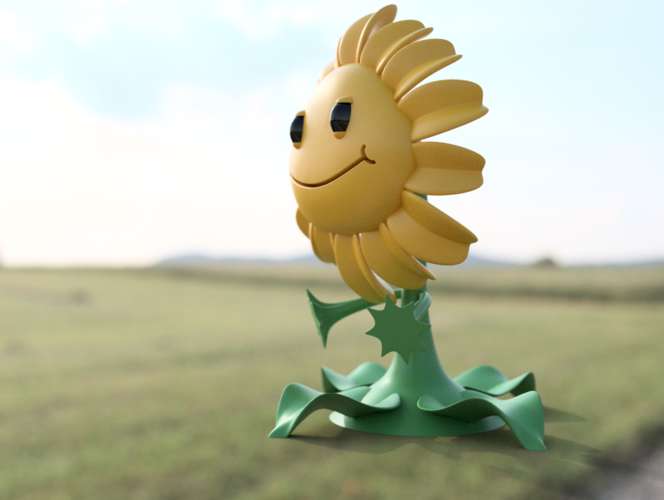 Sunflower - Plants Vs Zombies GW2 3D Print 83791
