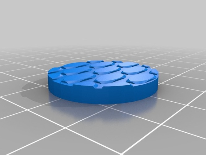 25mm Brick Road Base for 25-30mm Miniature Games 3D Print 838