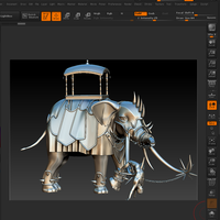 Small Battle elephant 3D Printing 83845