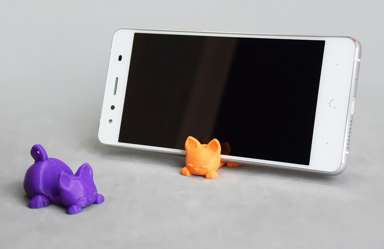 Keichain / Smartphone Stand Cat 3D Print 84046