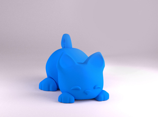Keichain / Smartphone Stand Cat 3D Print 84047