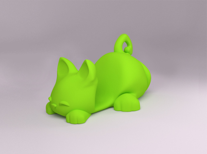 Keichain / Smartphone Stand Cat 3D Print 84049