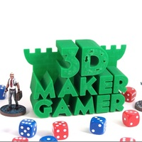 Small 3D Maker Gamer Logo 3D Printing 841