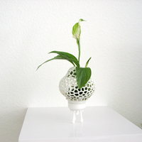 Small Mini Plant Space Rocket with Pot 3D Printing 84205