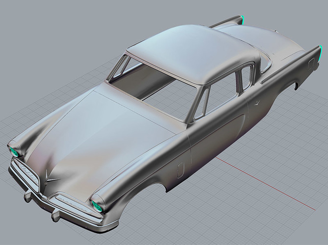 1953 Studebaker Commander 1:32 scale Slot Car 3D Print 84212