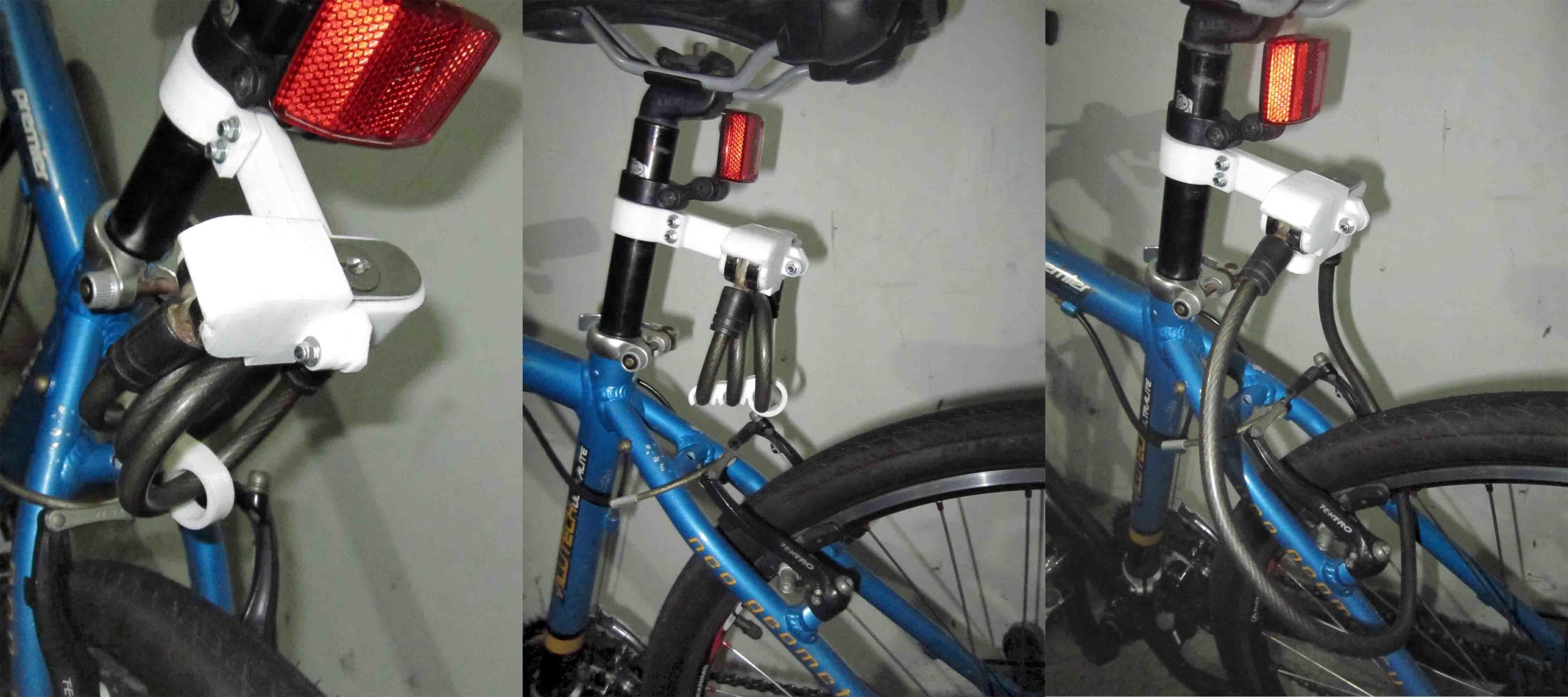 3d Printed Bicycle Lock Holder By Herisuprapto Pinshape