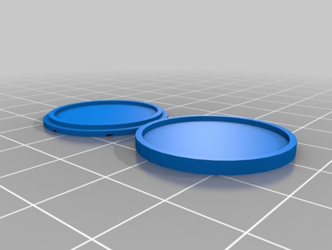 25mm Dungeon Floor Snap-Fit Base 3D Print 843