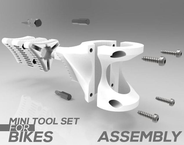 MINI TOOL SET FOR BIKE 3D Print 84313