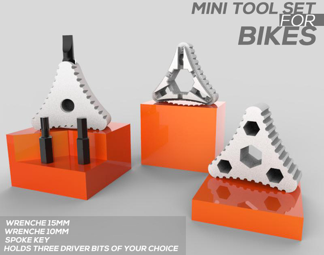 MINI TOOL SET FOR BIKE 3D Print 84314