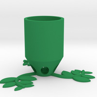Small Small Plant Pot (long) 3D Printing 84516