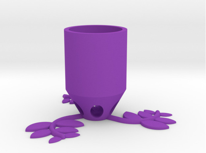 Small Plant Pot (long) 3D Print 84517