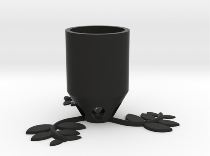 Small Plant Pot (long) 3D Print 84518