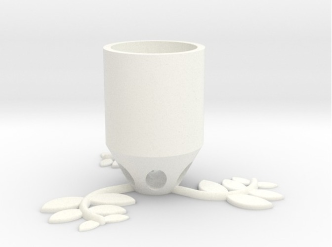 Small Plant Pot (long) 3D Print 84519
