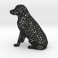 Small Voronoi Labrador Retriever Dog 3D Printing 84541