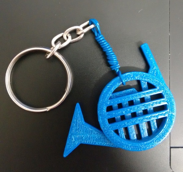 Medium Blue French Horn 3D Printing 84576