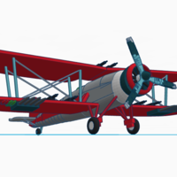 Small biplane expantion 3D Printing 84581