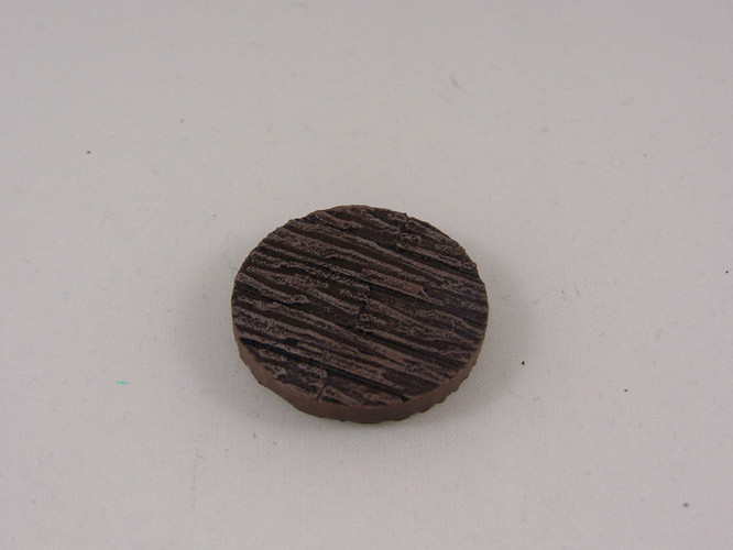 25mm Wooden Plank Base for 25-30mm Miniature Games 3D Print 846