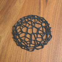 Small Drink coaster - Voronoi #9 3D Printing 84637