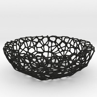 Small Bowl (19 cm) - Voronoi-Style #1 3D Printing 84658