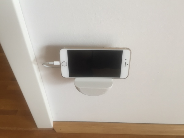 Medium iPhone 6 Wall Mounted Dock 3D Printing 84702