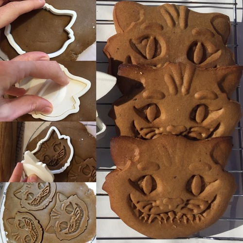 3D Printed Cheshire Cat Cookie Cutter By Project_1