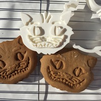 Small Cheshire Cat Cookie Cutter 3D Printing 84791
