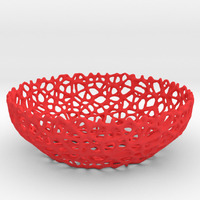 Small Voronoi bowl or key shell - Style #8 3D Printing 85068