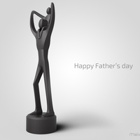 Small Father's Day Sculpture  3D Printing 85158