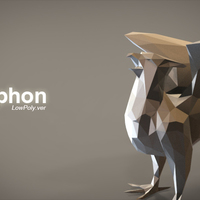 Small Gryphon_lowPoly 3D Printing 85228