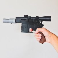 Small Model kit - Han Solo's DL-44 Heavy Blaster Pistol 3D Printing 85246