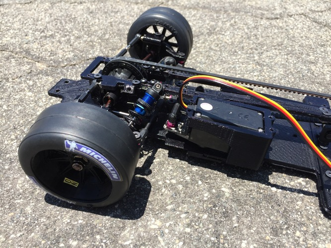 RS-LM Lemans RC Car Chassis 3D Print 85332