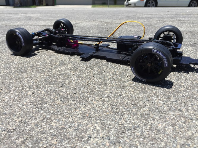 RS-LM Lemans RC Car Chassis 3D Print 85333