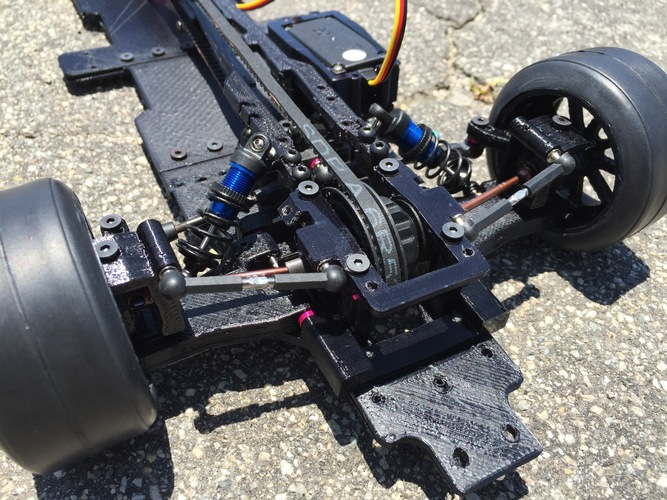 RS-LM Lemans RC Car Chassis 3D Print 85334