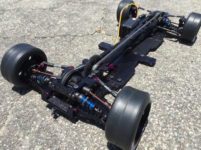 RS-LM Lemans RC Car Chassis 3D Print 85336