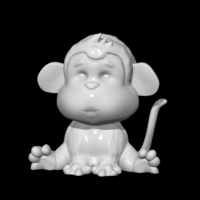 Small Monkey 3D Printing 85491