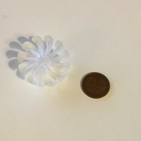 Small Flower button 3D Printing 85556
