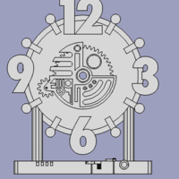 Small Clock design 3D Printing 85620