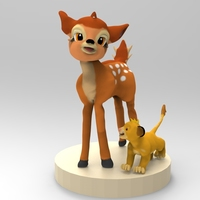 Small Bambi and Simba  3D Printing 85682