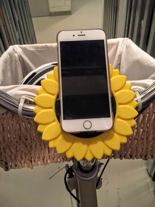 Medium iPhone Bike Mount - Sunflower Style 3D Printing 85744