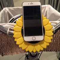 Small iPhone Bike Mount - Sunflower Style 3D Printing 85744